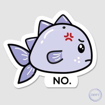 Angry-fish-sticker-DewyCreations2 by .