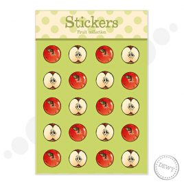 Stickervel met illustraties van Dewy Venerius by Dewy Venerius.