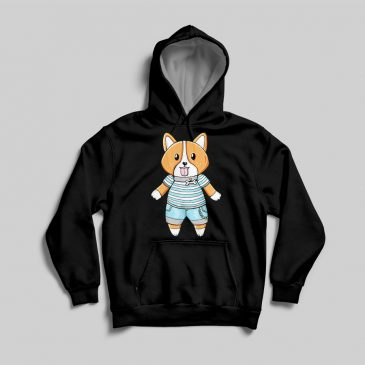 Black-Sweater-Cute-Corgi by .