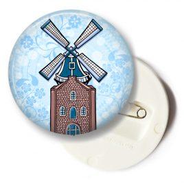 Blauwe-button-Nederland-Molen-Holland by .