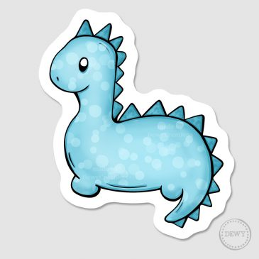 Blue-dino-sticker-DewyCreations by Dewy Venerius.