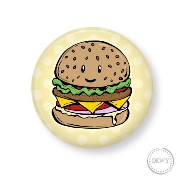Button-burger by Dewy Venerius.