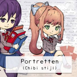 Chibi-stijl-portretten-DewyCreations by .