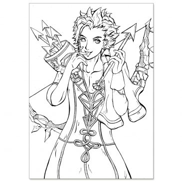 Claude-Fire-Emblem-Three-Houses-Fanart-Line-Art-DewyCreations by .