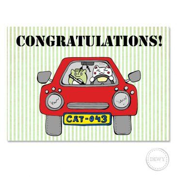 Congratulations-card-car3B by Dewy Venerius.