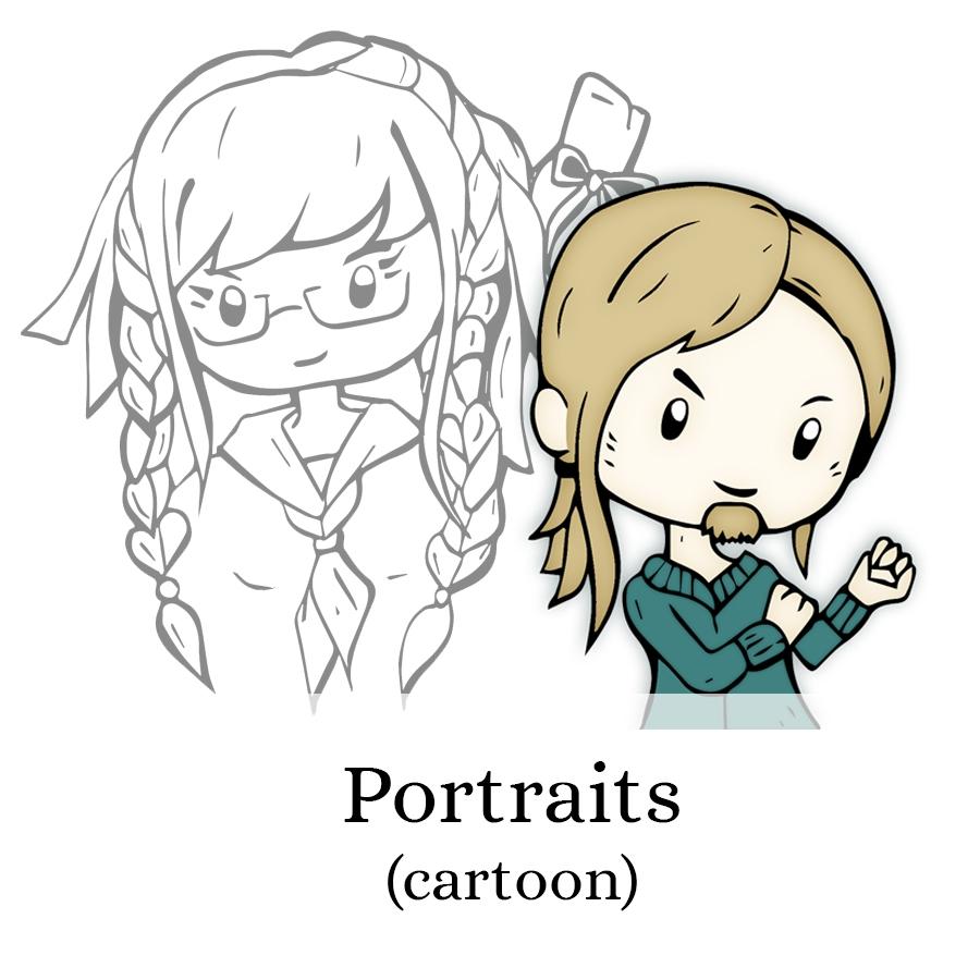 Schattige-cartoon-portretten-DewyVenerius by .