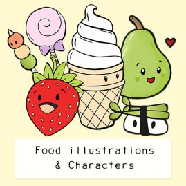 Cute-food-character-illustrations-DewyCreations by .