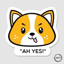 Cute-kawaii-Corgi-dog-sticker-happy-DewyCreations by .