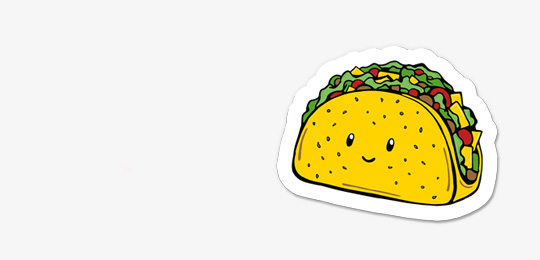 DewyCreations-Magnet-taco by .