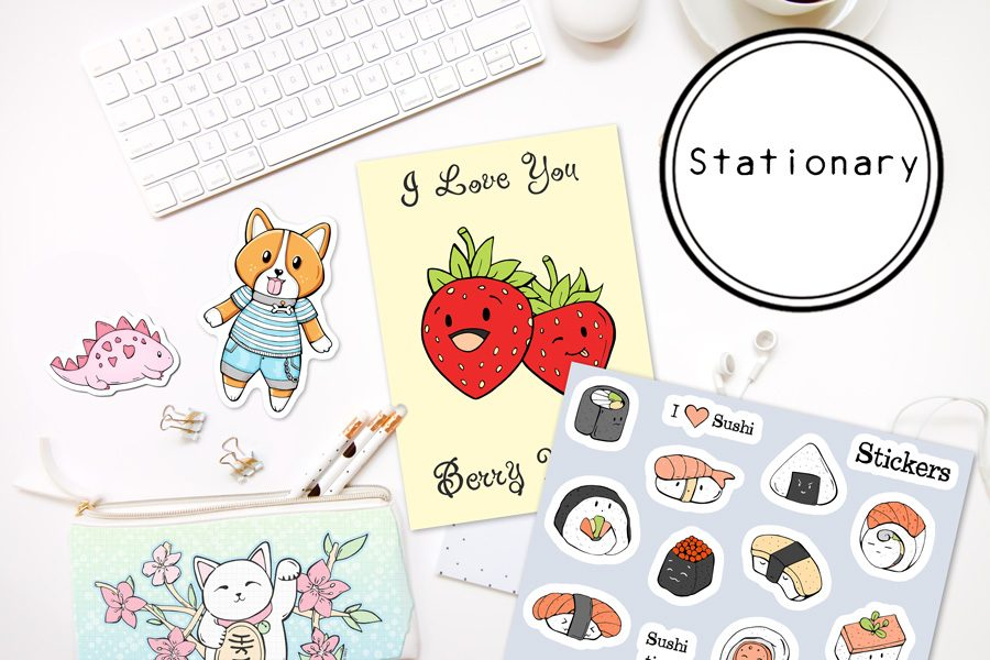 DewyCreations-Stationary by .