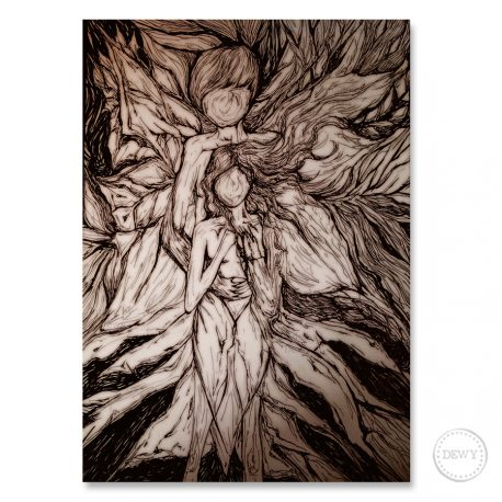 Fantasy-nature-couple-illustrationB by Dewy Venerius.