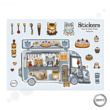 Foodtruck-sticker-sheet-DewyCreations by Dewy Venerius.