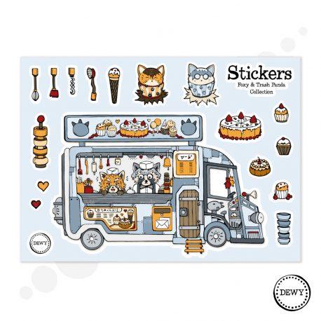 Foodtruck-sticker-sheet-DewyCreations by Dewy Venerius.