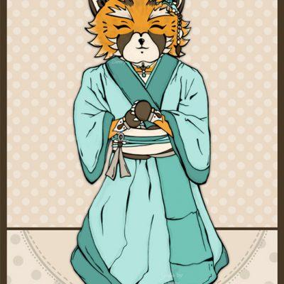 Foxy in kimono