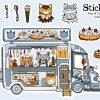 Foxy&TP-foodstruck-stickervel by Dewy Venerius.