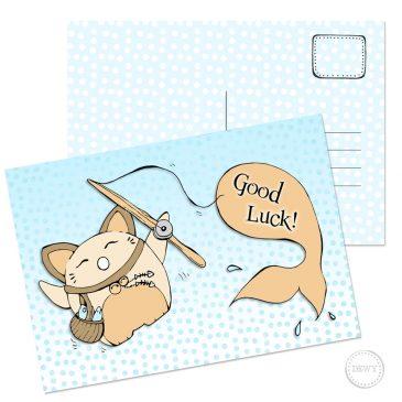 Maneki Neko good luck gelukskat kaart