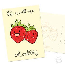 Grappige-fruit-aardbei-kaart-Dewy-Venerius by .