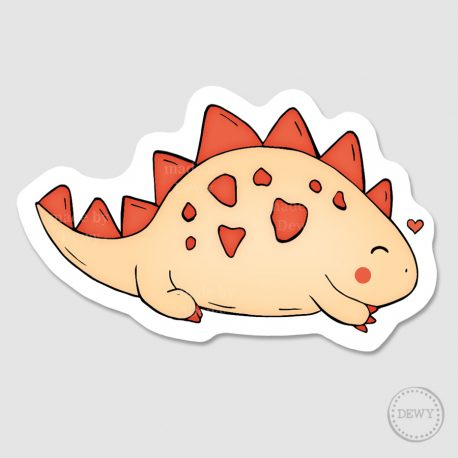 Happy-dino-sticker by Dewy Venerius.