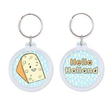 Hello-Holland-Dutch-cheese-keychain-kaas-sleutelhanger