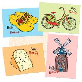 Hello-Holland-Nederland-postcrossing-kaartenset by .