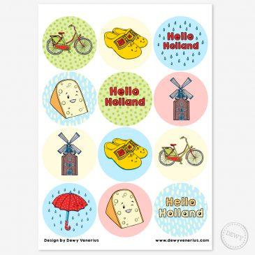Hello-Holland-Nederland-stickers-stickervel-sluitstickers-snailmail-postcrossing3 by .