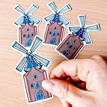 Hollandse-molen-holland-sticker-Dewy-Venerius by .