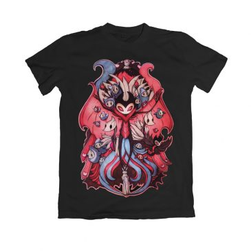Hollow-Knight-T-shirt Grimm by Max Fatfullin.