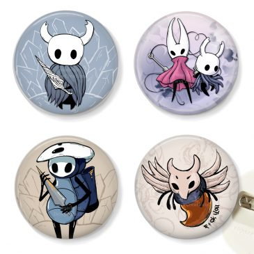 Hollow-Knight-fanart-buttons-Hornet-Quirrel-Primal-Aspid by .