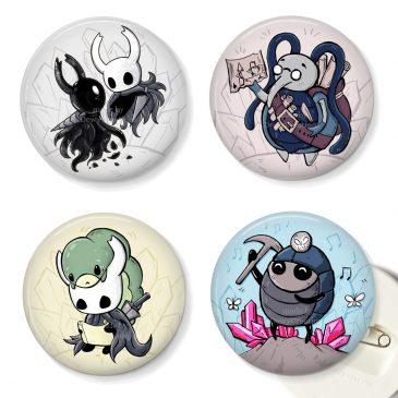 Hollow-Knight-fanart-buttons-Myla-Cornifer-DewyCreations by .