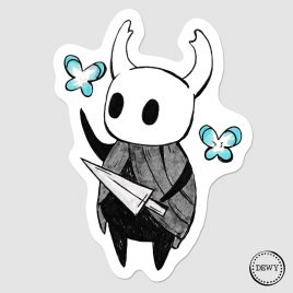 Hollow-Knight-sticker-DewyCreations-webshop by .