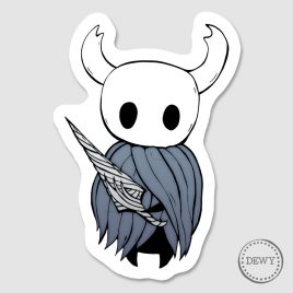 Hollow-Knight-sticker-with-nail-DewyCreations2 by .