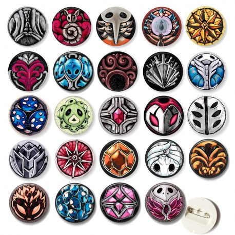 Hollow-knight-charms-buttons-DewyCreations by .