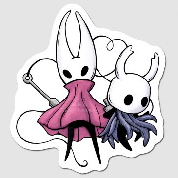 Hollow Knight Hornet duo sticker design