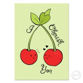 I-cherish-you-postcard-DewyCreations by Dewy Venerius.
