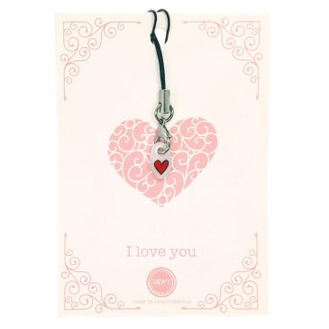 I-love-You-kaart-met-bedeltje-DewyCreations by .