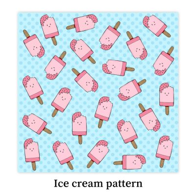 Ice-cream-pattern-DewyCreations by Dewy Venerius.