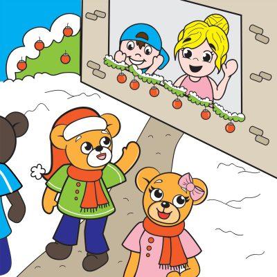 Illustratie Beertje kerstmis