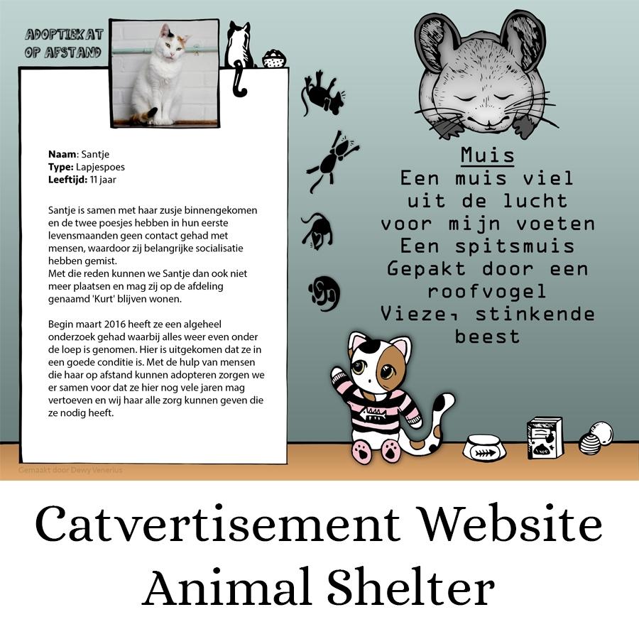 Illustraties-katten-dierenasiel-Amsterdam-Noord-Dewy-VeneriusB by .