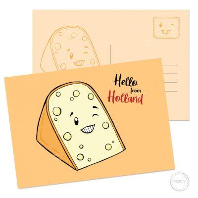Hello Holland A6 postkaart - kaas