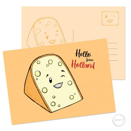 Kaas Postkaart Holland ansichtkaart wenskaart Dewy Venerius Nederland