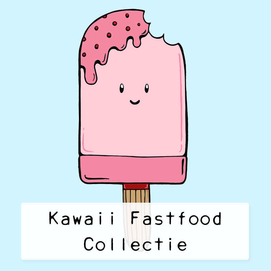 Kawaii-Fastfood-Collection-button by .