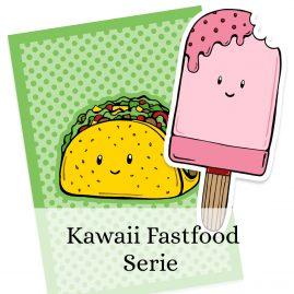 Kawaii-Fastfood-illustraties-Dewy-Venerius by .