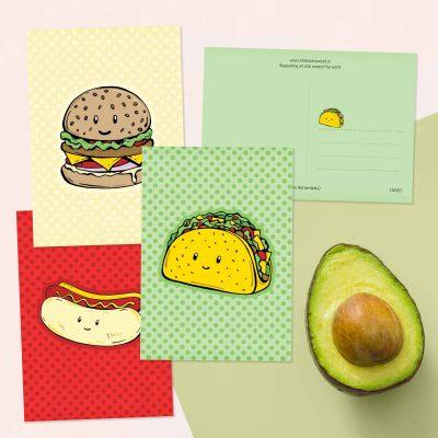 Kawaii kaartenset snacks