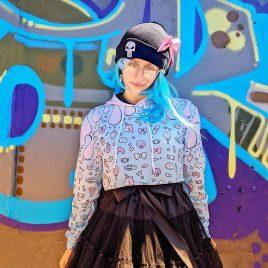 Kawaii-Pastel-crop-top-sweater-DewyCreationsB by .