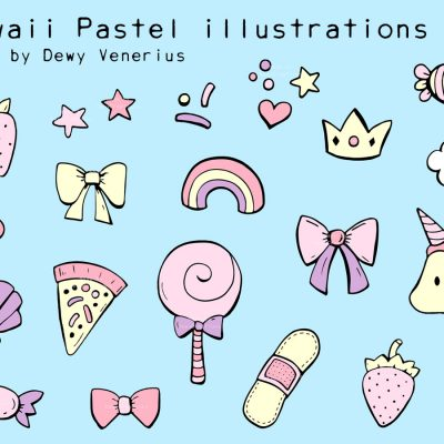 Kawaii Pastel illustrations