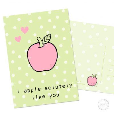 Polkadot appel A6 postkaart