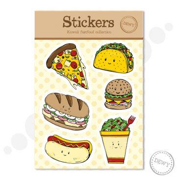 Stickervel met illustraties van Dewy Venerius by Dewy Venerius.