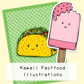 Kawaii-fastfood-illustrations-DewyCreations by .