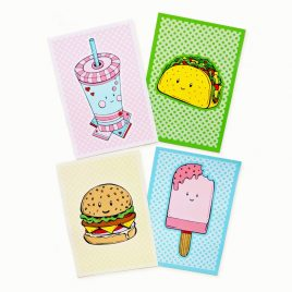 Kawaii-postcard-set-DewyCreations by .