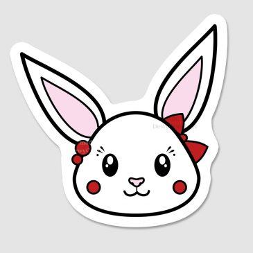 Kawaii-rabbit-sticker-DewyCreations by .